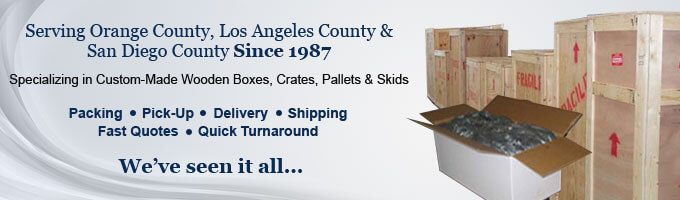 Shipping Boxes Southern California